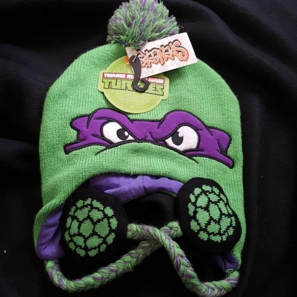 Teenage Mutant Ninja Turtles Girls Pink Donatello Beanie Stocking Cap  Winter Hat TMNT e9c5fd229407